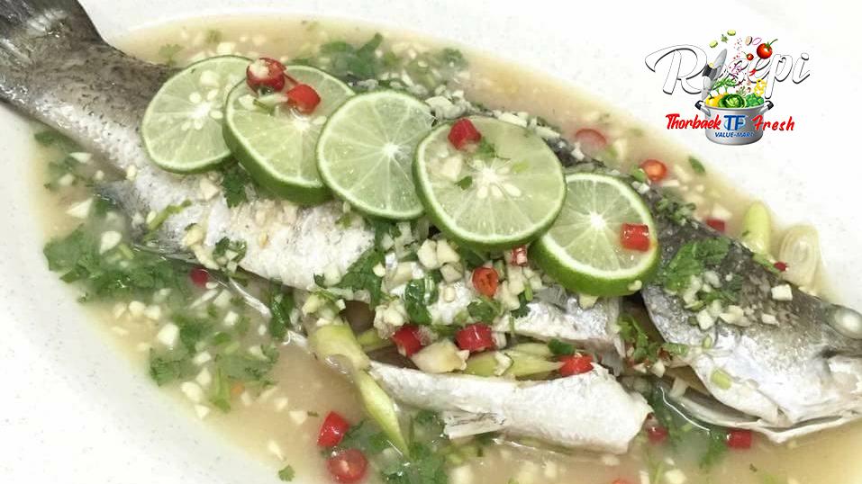 Jom buat ikan siakap masak stim dengan cara yang mudah ...